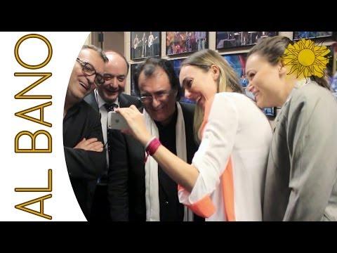 romina imita al bano dietro le quinte del concerto e diverte tutti