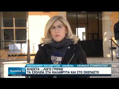 Κλειστά τα σχολεία στα Καλάβρυτα και στο Σκεπαστό | 24/01/2020 | ΕΡΤ