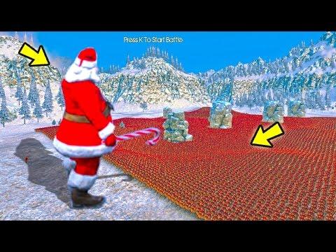 SUPER PAPAI NOEL VS  20.000 PINGUINS!  Ultimate Epic Battle Simulator