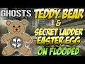 "Cod Ghosts - ""TEDDY BEAR & INVISIBLE LADDER LOCATION"" on Flooded (Call of Duty Easter Eggs)"