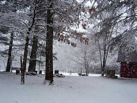 March 22, 2010, Snow in the N.C. Mountais (видео)