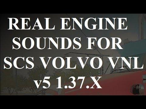 Real Engine Sounds For Scs Volvo Vnl v5 1.37