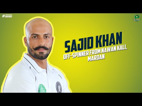 Meet the off-spinner from Nawan Kali, Mardan, Sajid Khan