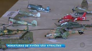 Marília: exposição de aeronaves em miniatura reúne admiradores