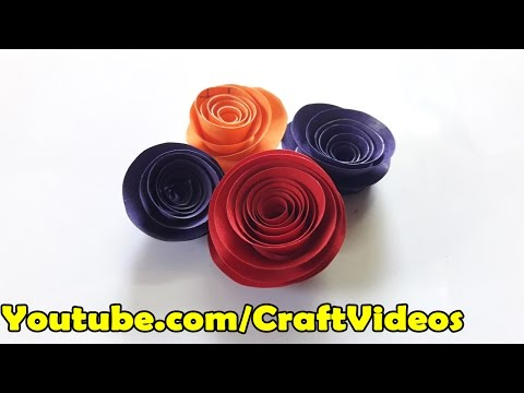 How to make Rolled Paper Roses for Valentines Day