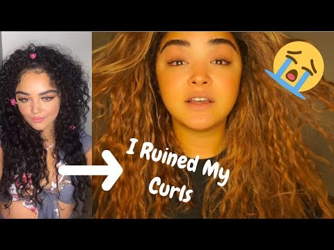 Hair cutting - I really F***ked up my curls!! Bleaching FAIL -  CUTTING MY HAIR AT HOME + TRYING TO SAVE MY HAIR