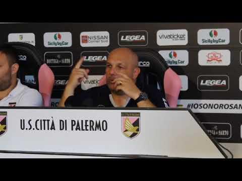 Palermo, Tedino presenta la sfida di Foggia