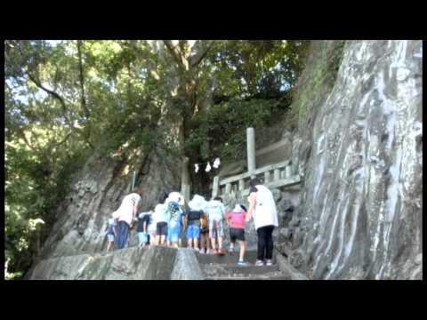 加津佐町 夫婦岩稲荷神社参拝と展望 南島原市若木保育園