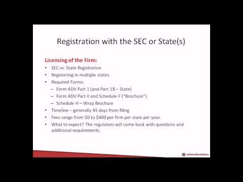 Going Independent As A Financial Advisor - Registering With The SEC Or State(s)