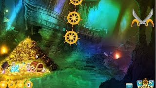Wow Pirates Treasure Cave Escape walkthrough Wowescape.