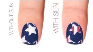 Stars & Stripes Color-Changing Nail Art Design