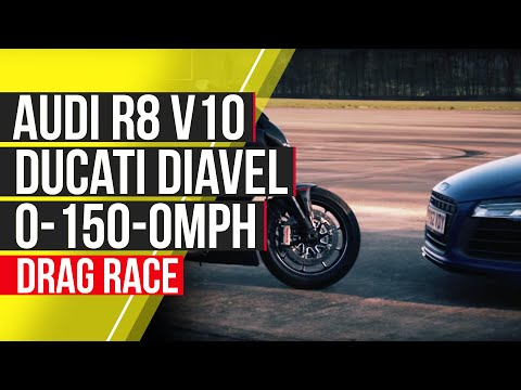 Audi R8 V10 Plus vs Ducati Diavel