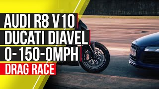 2. Audi R8 V10 Plus vs Ducati Diavel: 0-150-0mph - autocar.co.uk