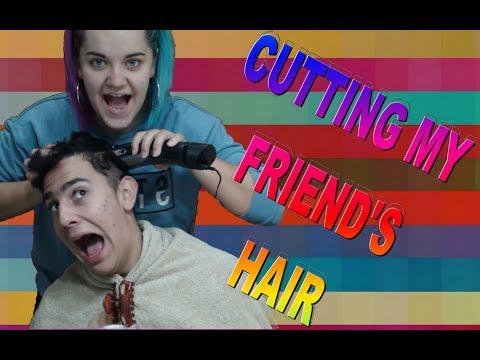 Hair cutting - CUTTING MY FRIEND'S HAIR