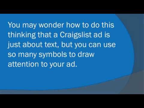 Watch '3 Tips to Creating a Successful Craigslist Advert for Your Local Business - YouTube'