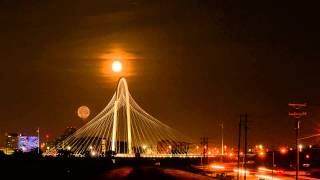 Dallas Super Moon Time Lapse
