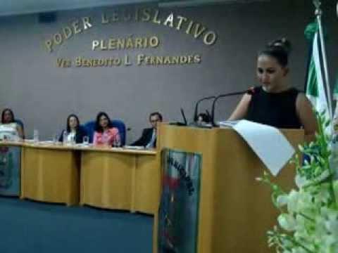 Pronunciamento da Presidente da Câmara de Coronel Sapucaia Natasha Kuasne