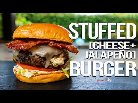 The Best Stuffed Burger - Cheesy Jalapeño Style | SAM THE COOKING GUY 4K