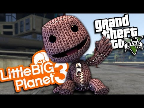 "GTA 5 Mods - LITTLEBIGPLANET'S ""SACKBOY"" MOD (GTA 5 PC Mods Gameplay)"