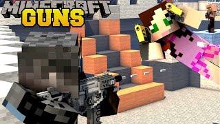 Minecraft: TOO MANY GUNS (ROCKET LAUNCHERS, LASER GUNS, & FUTURISTIC GUNS) Mod Showcase by PopularMMOs