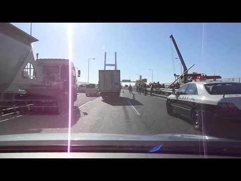 Yokohama Bay Bridge truck accident