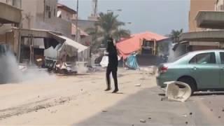 مواجهات مستمرة في محيط ساحة الفداء ببلدة الدراز 23/5/2017 Bahrain