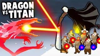 The FINAL BOSS Battle!  Dragon vs Giant TITAN ARMY! (The Bonfire: Forsaken Lands)