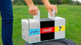 Experiment: Coca Cola and Baking Soda! Super Reaction!