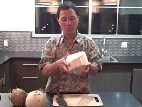How to Open a Young Thai Coconut