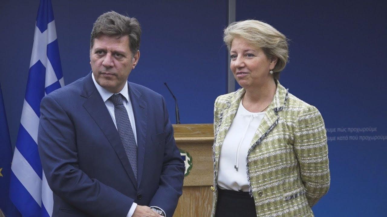 Συνάντηση του Μ.Βαρβιτσιώτη, με την υπ. Ευρωπαϊκών Υποθέσεων Κροατίας, Andreja Metelko-Zgombić