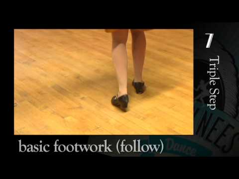 Basic Lindy Hop Footwork - Beginner Follower practice video from Bees' Knees Dance