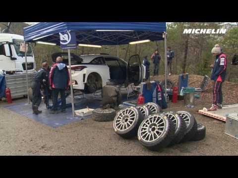 Neuville testing - 2017 WRC Rallye Monte-Carlo - Michelin Motorsport