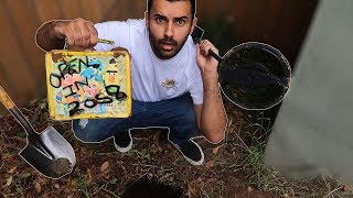 Video FOUND A TIME CAPSULE WHILE METAL DETECTING IN MY BACKYARD!!! YOU WON'T BELIEVE WHAT WAS IN IT.. MP3, 3GP, MP4, WEBM, AVI, FLV Oktober 2018