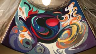 """""""Center Peace"""" : Abstract Residential Mural"""