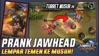 Download Video PRANK TERLARANG JAWHEAD! Lempar Temen Ke TURRET MUSUH - Mobile Legend MP3 3GP MP4