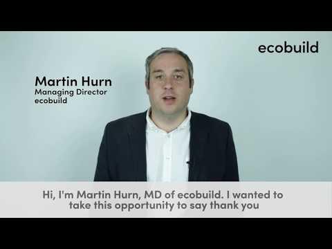 Martin Hurn, ecobuild vlog series, episode 2