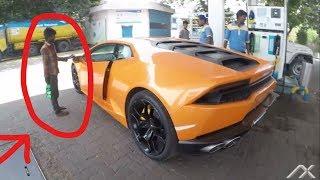 Video BJP MLA car (Begger reaction) Lamborghini Huracan Huge revs | Supercars of Mumbai | India 2017 MP3, 3GP, MP4, WEBM, AVI, FLV Januari 2019