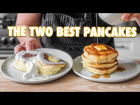 Perfect Homemade Pancakes (Japanese Soufflé Vs. American Style)