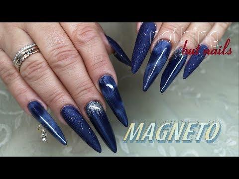 Nageldesign - Magneto Kolor Kultur auf wieAcrylgel    polygel nothing but nails