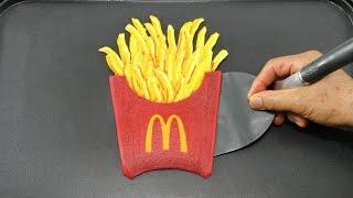 Making McDonald's French Fries Pancake