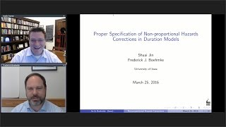 Frederick Boehmke: Proper Specification of Non-proportional Hazards Corrections in Duration Models