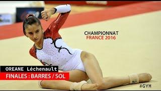 Qualifiée pour les finales Barres / sol du championnat de France Elite 2016, Oréane Léchenault a terminé 5e aux barres asymétriques (13.600 points) et 3e au sol (13.550 points).Pour retrouver Oréane, abonnez-vous ! Facebook : https://www.facebook.com/OreaneGym/Insta : https://www.instagram.com/oreane_simba/Site : http://gymsport.fr/