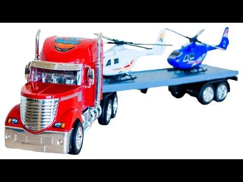 Грузовик с вертолетами Видео для детей Седа ТВ