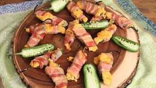 Bacon Wrapped Jalapeno Poppers |  Episode 1180 by Laura in the Kitchen