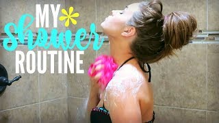 """The first 100 viewers to use the code """"lovemeg"""" will receive the Zero Shine System for Oily/Combination Skin or the Total Moisture System for Dry/Sensitive Skin for only $9.99. Simply click here http://bit.ly/2sSmo56 and enter """"lovemeg"""".This video is sponsored by NxN.This is my shower routine 2017. I do this during my night time routine since the kids are asleep and its easier for mommy to take some time for myself. So, I hope you all enjoy seeing how I clean my body and all the products I've been loving! Link to my 100K Giveaway Entry Form (open until June 30th, 2017): https://gleam.io/TdTnG/lovemegs-100k-giveawayHere is the equipment that I use in making my videos:Canon G7X: http://amzn.to/2qycaSkApple MacBook Pro: http://amzn.to/2ppPlm9Final Cut Pro Software: http://amzn.to/2pzyhsiSunPak Tripod: http://amzn.to/2r7VmCUThese are some products that I get asked about a lot:ALL my cleaning products: https://www.grove.co/referrer/998436/My Dyson Vaccuum: http://amzn.to/2r71qi6Julie's Quilt: http://amzn.to/2r6CkA0CHECK ME OUT ON SOCIAL MEDIA..........Instagram: https://instagram.com/lovemeg09/Twitter: https://twitter.com/lovemegyoutubePinterest: https://www.pinterest.com/meglovesjustin/Mailing Address: PO Box 12, Olivia NC, 28368HERE ARE A FEW OF MY FAVORITE VIDEOS.........SHABBY CHIC FARMHOUSE HOME TOURhttps://www.youtube.com/watch?v=n8xe_W_vUTMWHAT ITS LIKE TO BE MARRIED AT 18https://www.youtube.com/watch?v=f8hhULsCptE10 NETFLIX TV SHOWS TO BINGE WATCHhttps://www.youtube.com/watch?v=ULBmR0c5Gn4DAY IN THE LIFE OF A FIREFIGHTERS WIFE  24 HOUR SHIFThttps://www.youtube.com/watch?v=Tni8T11tMvkMY WEIGHT LOSS JOURNEYhttps://www.youtube.com/watch?v=hGULnv1nark"""