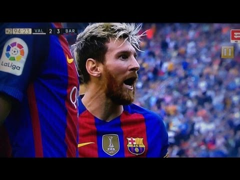Barcelona Vs Valencia 3-2 / All Goals And Highlights : Fights And More (22/10/016) HD