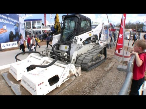 2402 - Stehr demonstrating their new launched SBV 2402 Plate Compactor mounted on an Bobcat T 870 track loader, at the Bauma 2013 expo in Germany. Come and follow u...