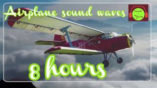 Airplane sound waves for relaxing and sleeping - 8 hours - white noise.