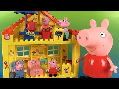 Peppa Pig Maison Jeu de Construction Jouets  Peppa's House Blocks