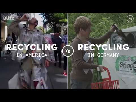 Reciclarea în America VS Germania